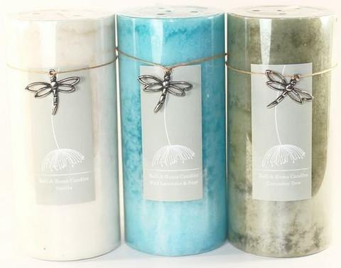 12 Mottled 2 75 X 6 Pillar Candles 6 Fragrances
