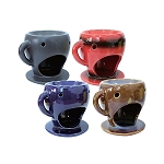 48 Tea Cup Oil Warmers - 4 Colors  - Tart Melters