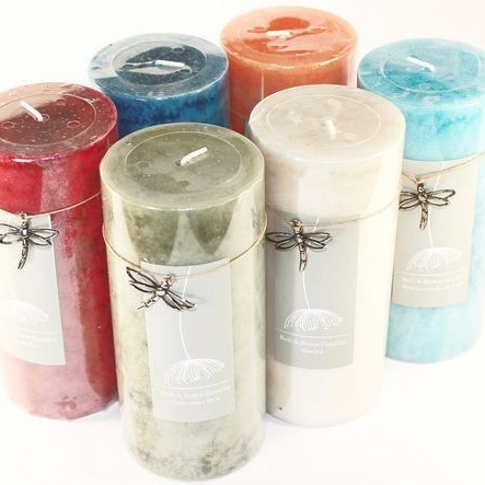 12 Mottled 2.75 x 6 Pillar Candles - 6 Fragrances - Closeout