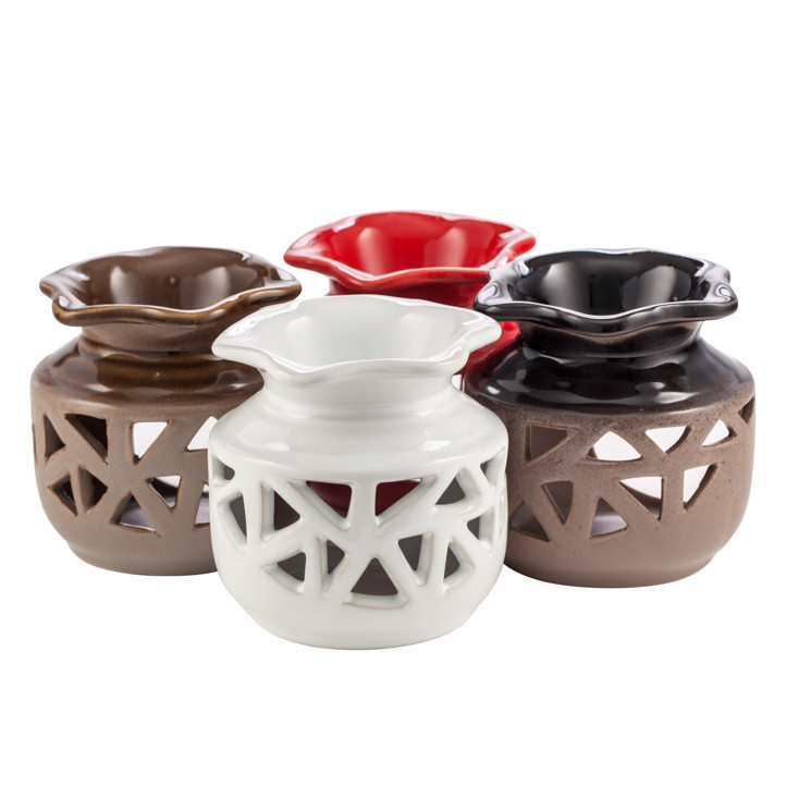 48 Gift Boxed Oil Warmers - 4 Colors - Ceramic