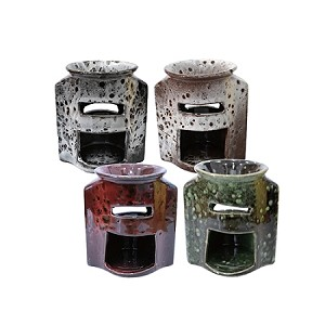48 Ceramic Oil Warmers -  4 Colors - 4 Inch Tall
