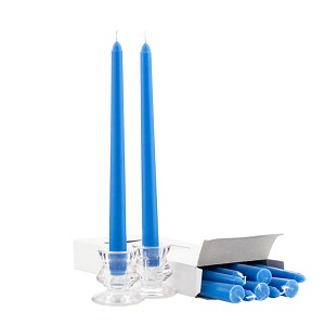 Wholesale Blue Taper Candles - 10 Inch - Unscented Case of 144